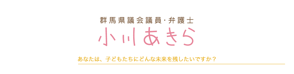 群馬県議会議員・弁護士 小川あきら